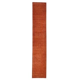 "Shahbanu Rugs Kashan XL Runner Wool and Silk Tone on Tone Hand Knotted Oriental Rug (2'7"" x 14'1"") - 2'7"" x 14'1"""
