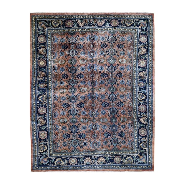"""Shahbanu Rugs Antique Persian Bijar Mint Cond Full Pile Hand Knotted Pure Wool Oriental Rug (8'6"""" x 10'4"""") - 8'6"""" x 10'4"""""""