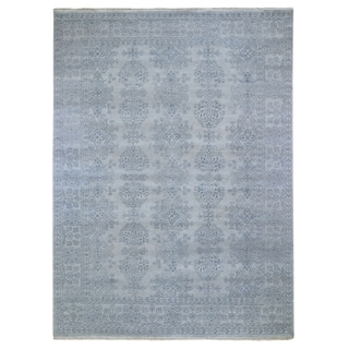 """Shahbanu Rugs Turkish Knot Oushak Design Hand-Knotted Pure Wool Oriental Rug (8'9"""" x 11'10"""") - 8'9"""" x 11'10"""""""
