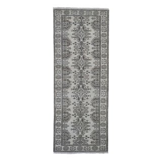"""Shahbanu Rugs Turkish Knot Oushak Design Hand-Knotted Pure Wool Oriental Rug (2'9"""" x 9'8"""") - 2'9"""" x 9'8"""""""