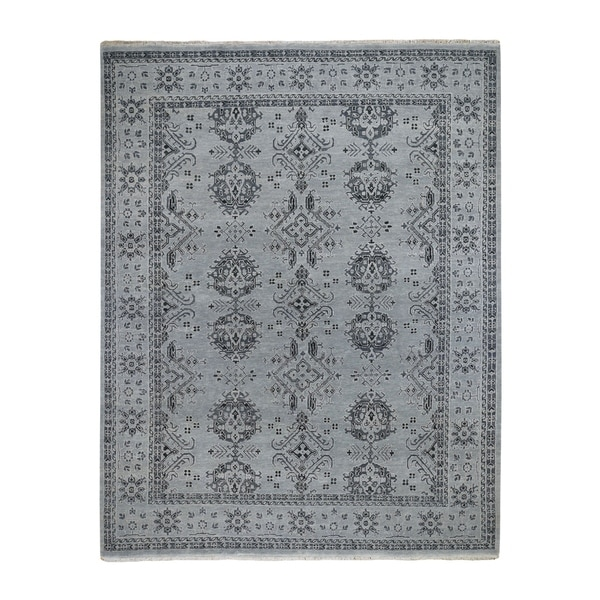 """Shahbanu Rugs Turkish Knot Oushak Design Hand-Knotted Pure Wool Oriental Rug (8'0"""" x 10'0"""") - 8'0"""" x 10'0"""""""