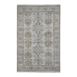 """Shahbanu Rugs Turkish Knot Oushak Design Hand-Knotted Pure Wool Oriental Rug (6'1"""" x 9'0"""") - 6'1"""" x 9'0"""""""