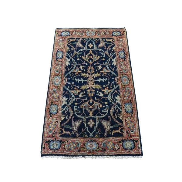"""Shahbanu Rugs Antiqued Heriz Re Creation All Over Design Pure Wool Hand Knotted Oriental Rug (2'1"""" x 3'0"""") - 2'1"""" x 3'0"""""""