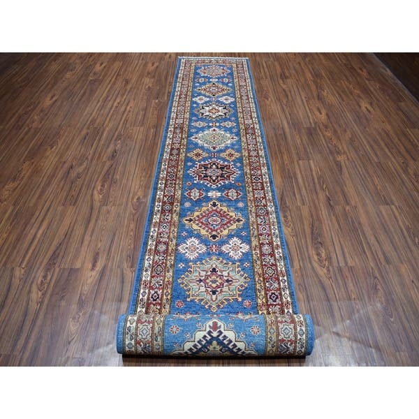 Super Kazak Pure Wool Geometric Design