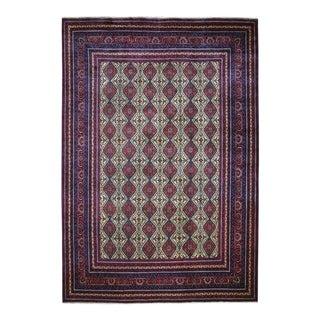 "Shahbanu Rugs Afghan Khamyab Vegetable Dyes Pure Wool Hand-Knotted Oriental Rug (9'10"" x 12'8"") - 9'10"" x 12'8"""