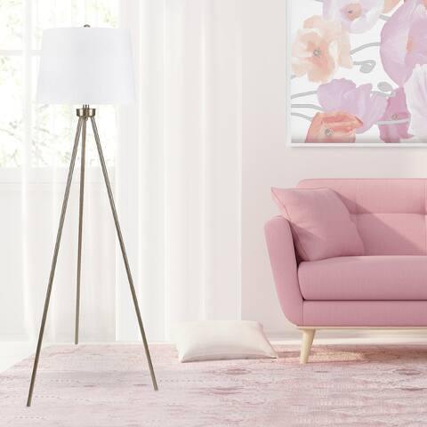 Carson Carrington Saerna 61.75-inch Plated Gold Floor Lamp