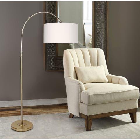 Carson Carrington Saevar 63.5-inch Plated Gold Floor Lamp
