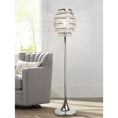 Silver Orchid Arnold 63.25-inch Polished Nickel Floor Lamp