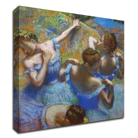 "Ballerine dietro le quinte by Edgar Degas , Print on Canvas, 16"" x 16"", Ready to Hang"