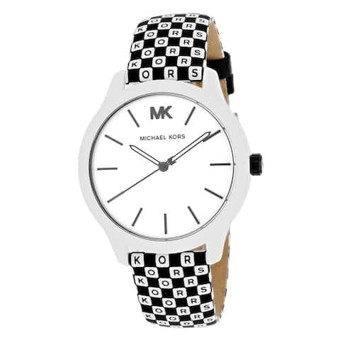 Michael Kors Women's Runway White and Black Dial Watch - MK2846