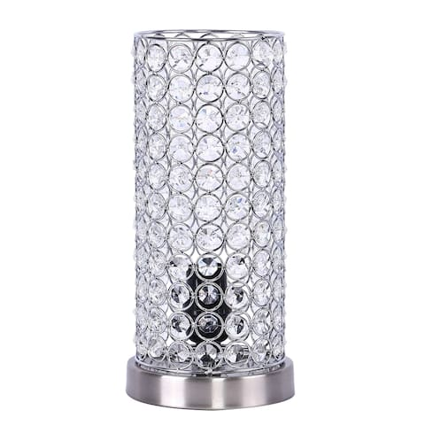 Silver Orchid Appel Brushed Nickel Accent Table Lamp