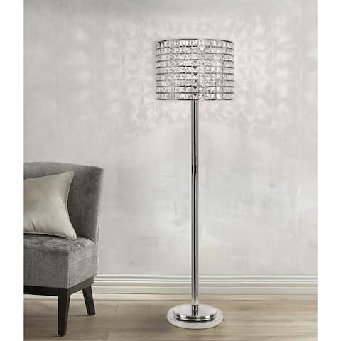 Silver Orchid Arnold 58-inch Polished Nickel Floor Lamp
