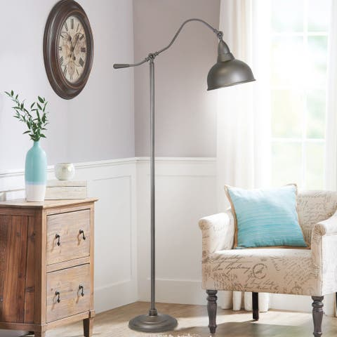 Copper Grove Mukachevo Slate Grey Floor Lamp with Metal Shade (63 in.)