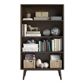 Novogratz Brittany Walnut 4 Shelf Bookcase