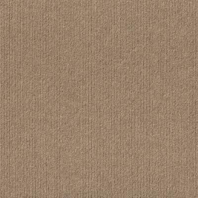 "4urFloor 18""X18"" Ribbed Carpet Tile Taupe (36sqft)"