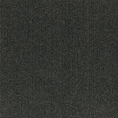 "4urFloor 18""X18"" Ribbed Carpet Tile Black Ice (36sqft)"