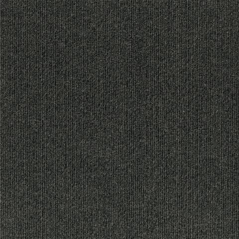"4urFloor 18""X18"" Ribbed Carpet Tile Black Ice (36sqft)"