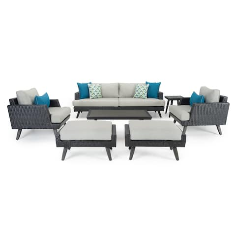 Casual 7pc Seating Set in Dove Gray by RST Brands
