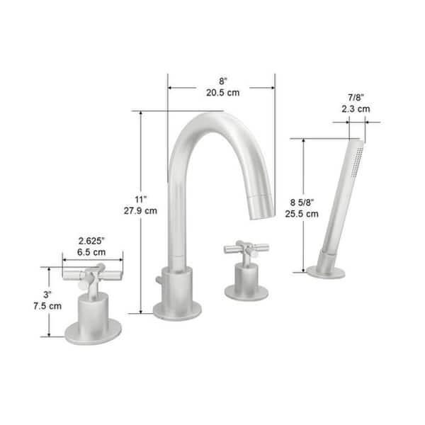 Ancona Prima 4 Series Brushed Nickel Widespread Bathroom Tub Faucet Overstock 29163241