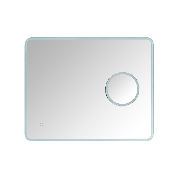 OVE Decors Moonpick 30 in. x 24 in. LED Frameless Mirror - White
