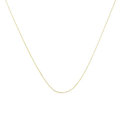 "Solid 10k Yellow Gold 0.5MM Rope Chain Necklace. Unisex Chain - Size 18"" Inches"