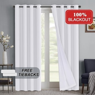 Link to PrimeBeau 100 Percent Blackout Waterproof Coating Thermal Insulated Grommet Curtains Similar Items in Curtains & Drapes