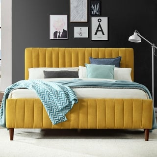 Link to Omax Decor Spencer Upholstered Platform Bed- Queen Similar Items in Bedroom Furniture