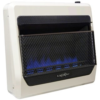 Lost River Natural Gas Ventless Blue Flame Gas Space Heater - 30,000 BTU, T-Stat Control - Model# LRT30B-NG