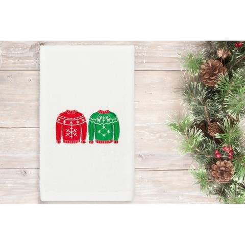 Authentic Hotel and Spa Christmas Sweaters Embroidered Luxury 100% Turkish Cotton Hand Towel