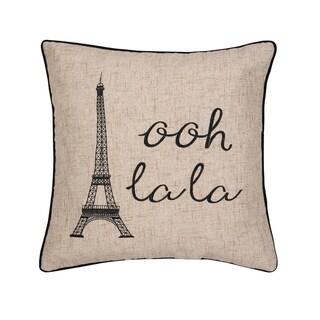 Ooh La Paris Embroidered Pillow