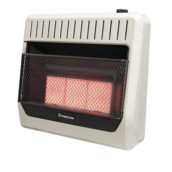 ProCom Heating Natural Gas Ventless Infrared Plaque Heater - 30,000 BTU, Manual Control - Model# MN3PHG