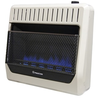 ProCom Heating Ventless Dual Fuel Blue Flame Wall Heater - 30,000 BTU, T-Stat Control - Model# MG30TBF