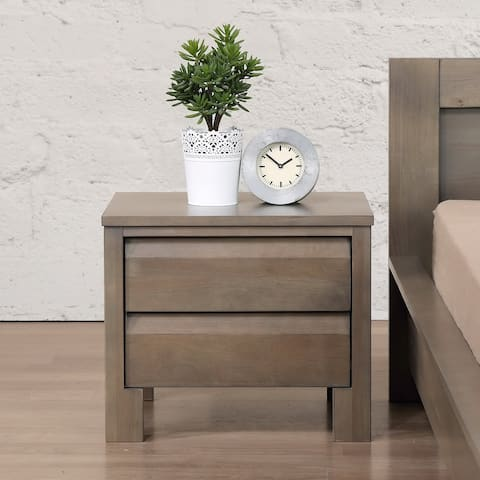 Strick & Bolton Alsa Grey 2-drawer Nightstand