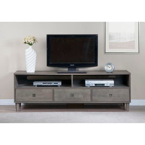 Strick & Bolton Marley Rubberwood Grey Entertainment Center