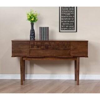 Carson Carrington Tessuto Tobacco Finish 4-drawer Sofa Table