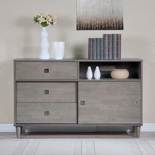 Strick & Bolton Marley Light Charcoal Transitional Buffet