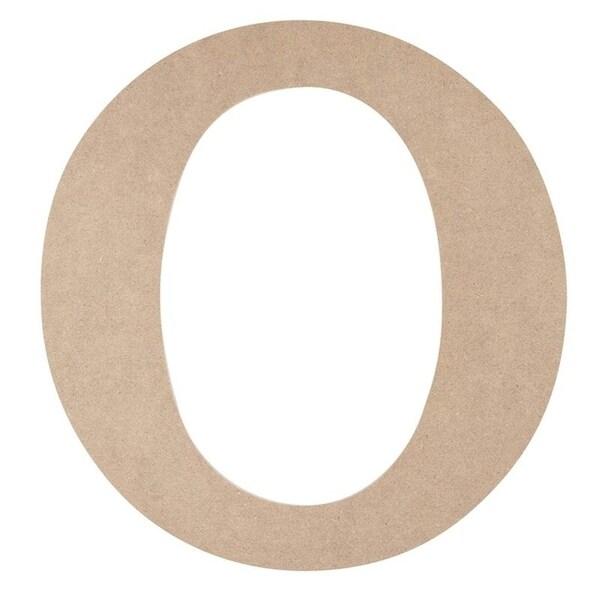 Wooden Greek Letter - DIY Paintable Unfinished Wood Greek Font O for Omicron