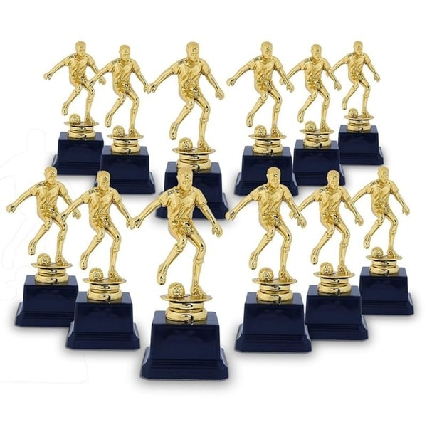 12-Pack Soccer Gold Trophy, Recognition for Soccer Player, Coaches, Sport Party