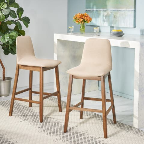 Galloway Contemporary Upholstered Bar Stool (Set of 2) by Christopher Knight Home