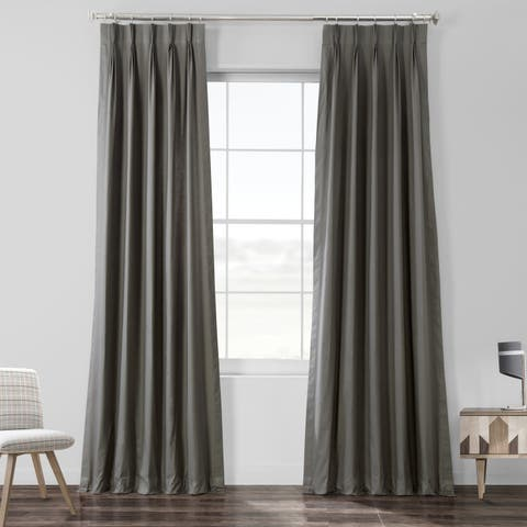 Exclusive Fabrics Solid Cotton Pleated Curtain