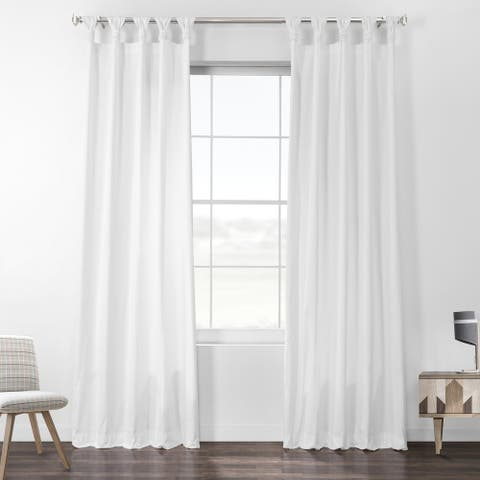 Porch & Den Matheny Solid Cotton Tab Top Curtain