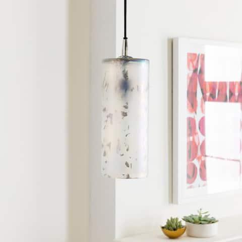 "Grundy Glam Antiqued Glass 1-light Pendant - 11.6"" x 6"" x 6"""