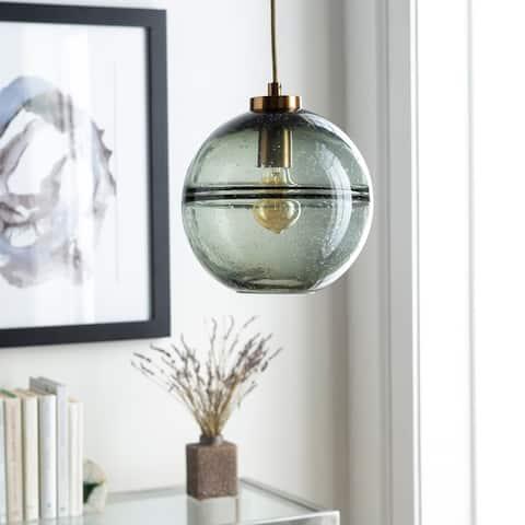 Sesser Bubbled Glass Modern 1-light Globe Pendant