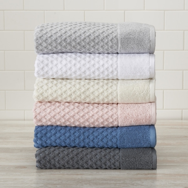 Grayson Collection 100% Cotton Textured Bath Towels