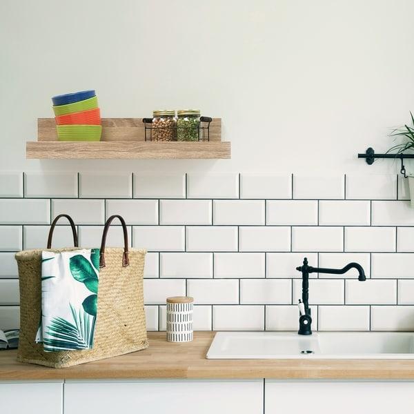InPlace 24-inch White Oak Shiplap Shelf