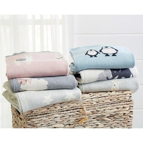 "Andi Mae 100% Cotton Knit Baby Blanket 32"" x 40"" - 32"" x 40"" - 32"" x 40"""