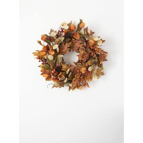 Mixed Leaf Wreath