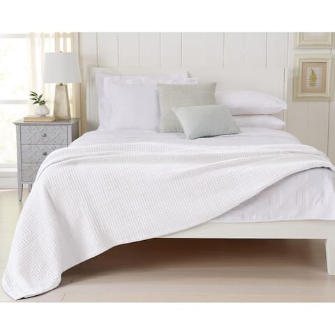 Mikala Collection 100% Cotton Waffle Weave Bed Blanket