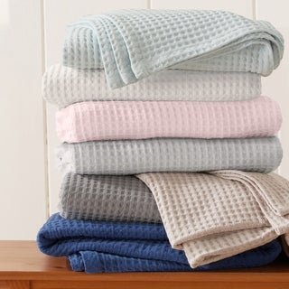Link to Porch & Den Pimlico Cotton Waffle Weave Bed Blanket Similar Items in Blankets & Throws