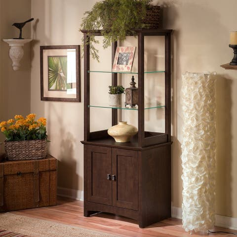 Copper Grove Tall Library Storage Cabinet with Doors